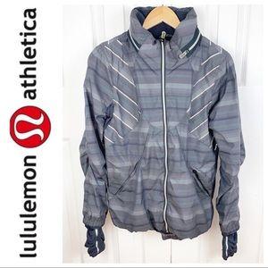 LULULEMON 8 Run Hustle Jacket - Gray Poncho